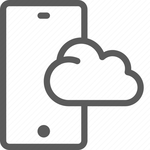 call, cloud, communication, contact, phone, smartphone icon
