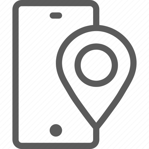 call, communication, contact, location, phone, smartphone icon