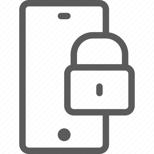 call, communication, contact, lock, phone, smartphone icon