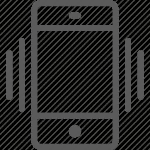 call, communication, contact, phone, smartphone, vibration icon