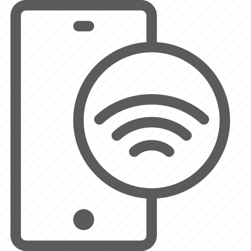 call, communication, contact, phone, smartphone, wifi icon