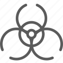 biohazard, education, learn, school, science icon
