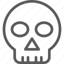 education, human, learn, school, science, skull icon