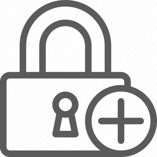 add, guard, insurance, lockpad, safe, security, surveillance icon