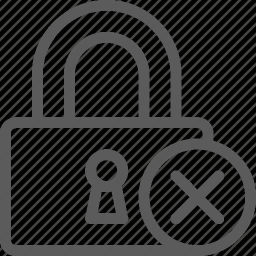 delete, guard, insurance, lockpad, safe, security, surveillance icon