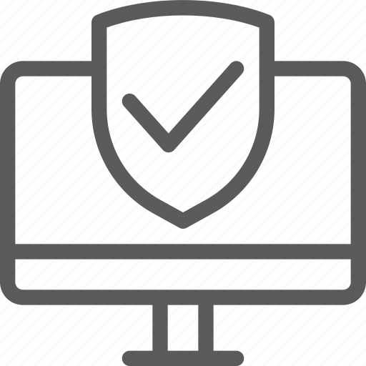 computer, guard, insurance, protected, safe, security, surveillance icon
