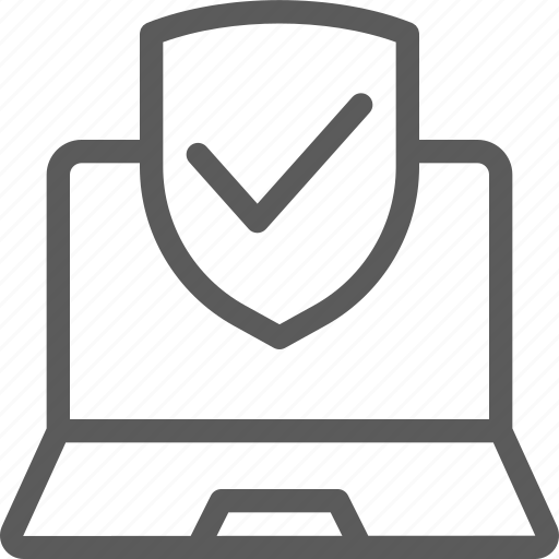 guard, insurance, laptop, protected, safe, security, surveillance icon