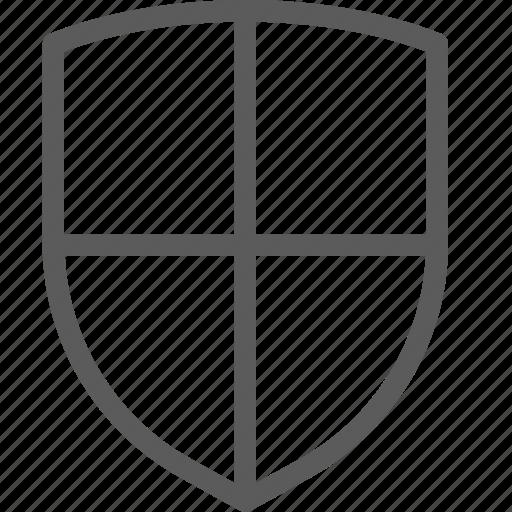 cross, guard, insurance, safe, security, shield, surveillance icon