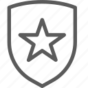guard, insurance, safe, security, shield, star, surveillance icon