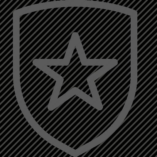 guard, insurance, safe, security, shield, star, surveillance icon