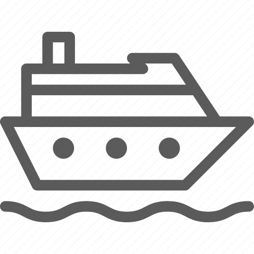 carrier, cruise, ship, shipping, transit, transport, travel icon