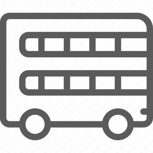 carrier, decker, double, shipping, transit, transport, travel icon