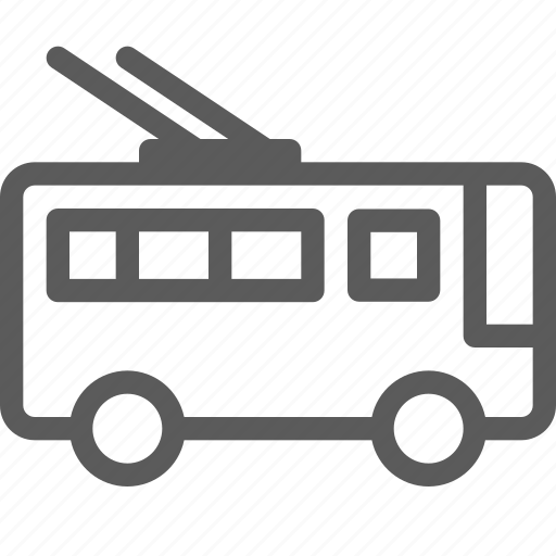 bus, carrier, electric, shipping, transit, transport, travel icon