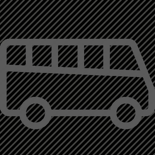 bus, carrier, mini, shipping, transit, transport, travel icon