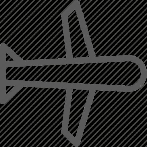 carrier, plane, shipping, transit, transport, travel icon