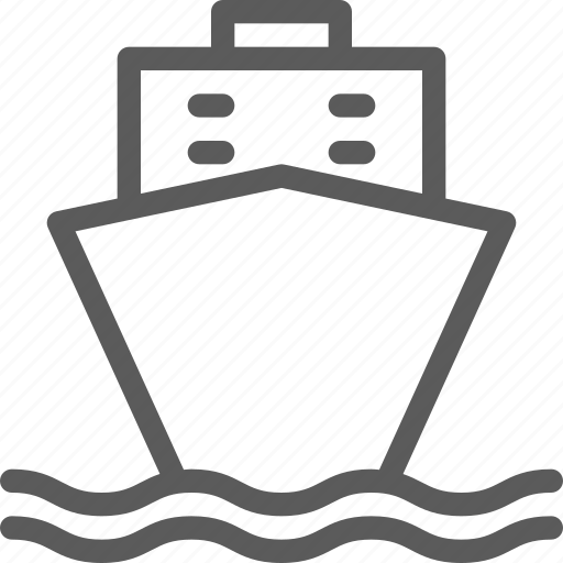 carrier, sea, ship, shipping, transit, transport, travel icon