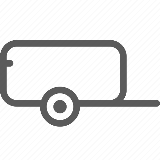 carrier, shipping, small, transit, transport, travel, trolley icon