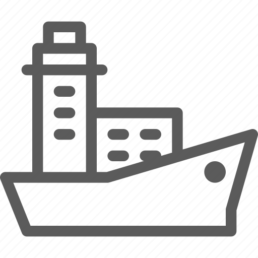 carrier, ship, shipping, transit, transport, travel icon