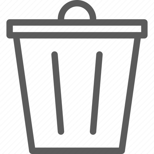 bin, interaction, interface, technology, trash, ui, user icon