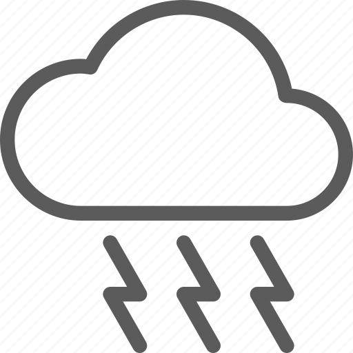 climate, cloud, forecast, meteorology, nature, thunderbolt, weather icon