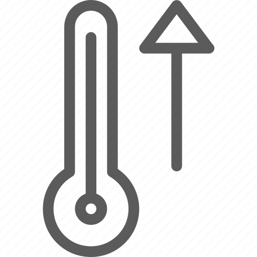 climate, forecast, increase, meteorology, nature, temperature, weather icon