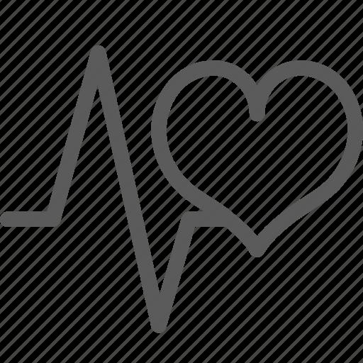 heart, love, marriage, passion, pulse, valentine, wedding icon