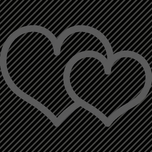hearts, love, marriage, passion, valentine, wedding icon