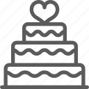 cake, love, marriage, passion, valentine, wedding icon