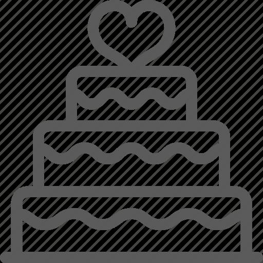 cake, love, marriage, passion, valentine, wedding icon