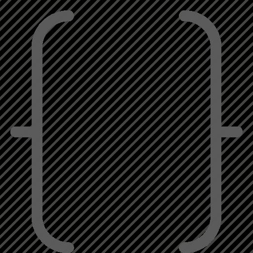 alignment, bracket, symbols, text, typing, word, writing icon