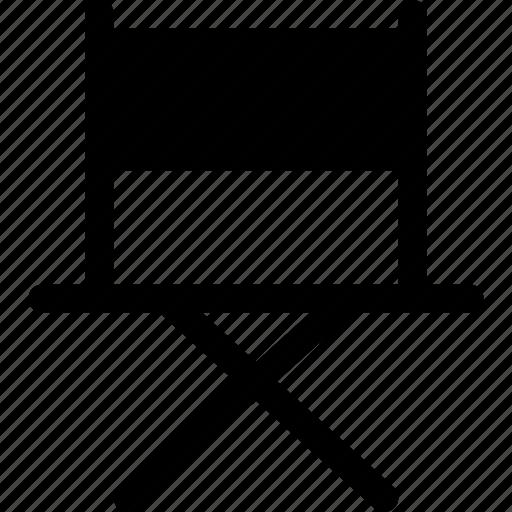 chair, cinema, director, folding, furniture icon