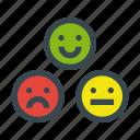 emoticon, happy, moody, neutral, sad, vote, voting icon
