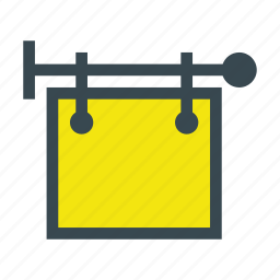 ad, advertising, shop, sign, store, wall icon