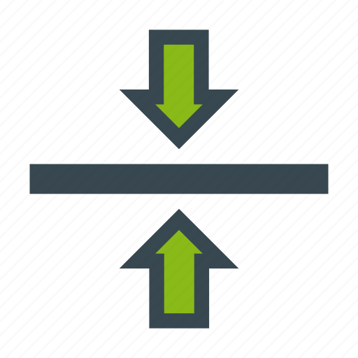 align, arrow, center, format, middle, vertical icon