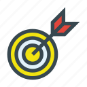archery, arrow, shoot, shooting, target icon