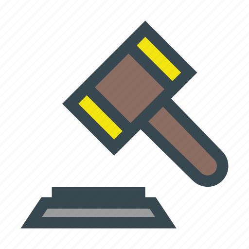 auction, case, closed, court, gavel, judges, justice icon