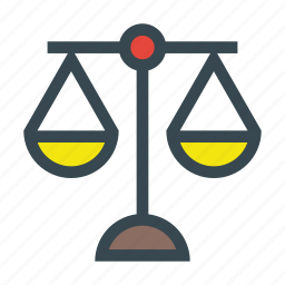 balance, equality, justice, pair, scale, scales icon