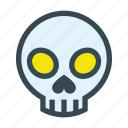 bone, dead, death, head, skeleton, skull icon