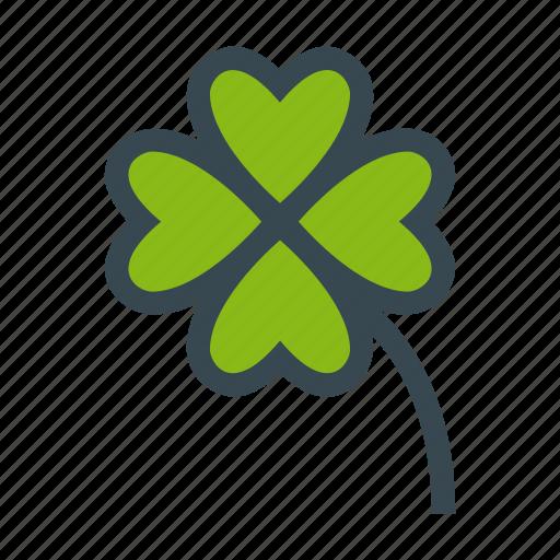 clover, four, leafs, luck, lucky, trefoil icon