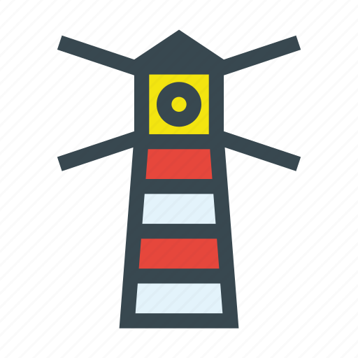 building, lighthouse, marine, nautical, navigation icon