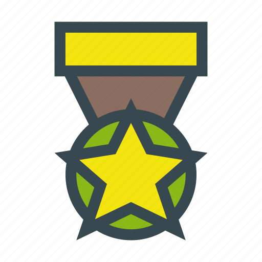 achievement, badge, condecoration, medal, military icon