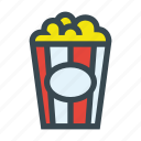 bucket, cinema, corn, fast, food, pop icon