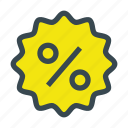 discount, label, offer, percentage icon