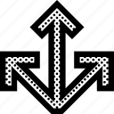 arrows, dimensional, three, x, y, z icon
