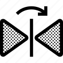 arrow, horizontal, mirror, move, reflect icon