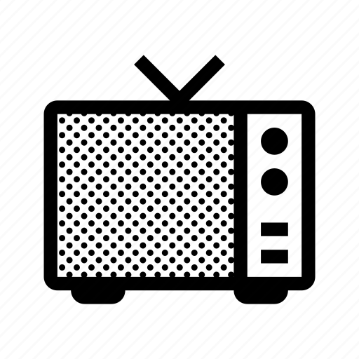 broadcast, old, television, tv icon