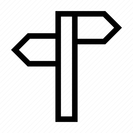 address, arrows, direction, pole, signal icon
