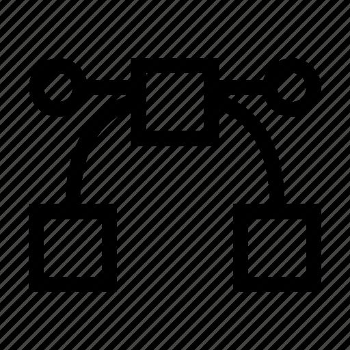curve, design, illustration, nodes, shape, vector nodes icon