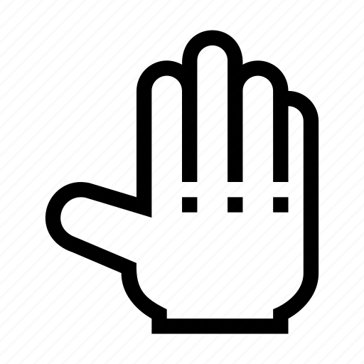 Fingers, back, touch, hand, open, gesture icon