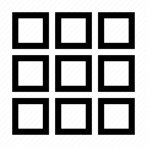 Table, squares, grid, thumbnails icon